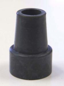 Zwarte rubberen stop 22mm (voor groene en gele Actoy stelten) Per stuk