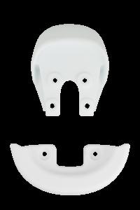 Qu-ax Bumpers voor zadel wit