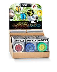 Henrys Tiger Snake Yoyo per 12 verpakt inclusief Display