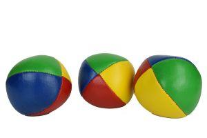 Basic set van 3 jongleerballen   100 gram   62 mm   rood-geel-blauw-groen